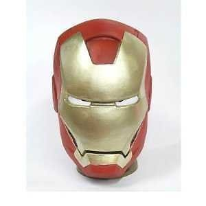 Mask Rubber Party Full Face Head Costume Iron Man Japan F s Airmail