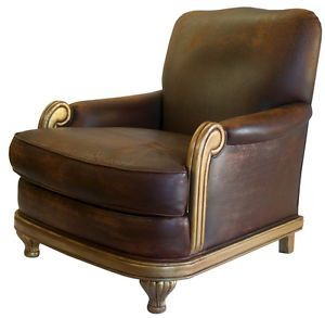 French Art Deco Vintage Club Chair in The Style of Sue and Mare