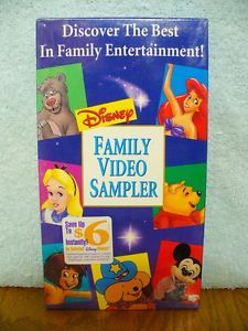 Disney Family Video Sampler Children Family Animated VHS New