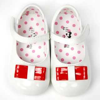 943 New Kids Girl White Mary Jane Shoes Size 5 6 7 8