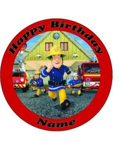 Fireman Sam Edible Print Icing Sheet Cake Topper