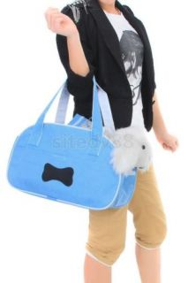 Stylish Travel Tote Carrier Bag Handbag for Pet Dog Cat Kitten Blue