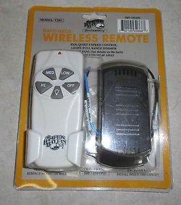 Hampton Bay T2R1 Wireless Ceiling Fan Remote Control New in Pkg