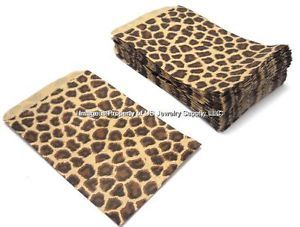 "200 Leopard Print Jewelry Retail Gift Party Wedding Favor Bags 4"" x 6"""