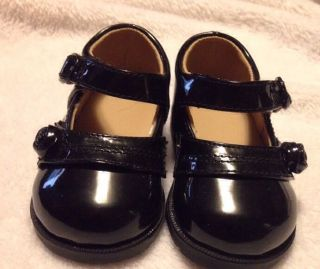 Baby Girl's Black Patent Leather Shoes Size 2