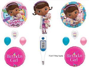 Doc McStuffins Thermometer Happy Birthday Party Balloons Decorations Supplies