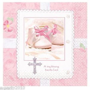 Tiny Blessings Baby Girl Shower Supplies Cake Napkins