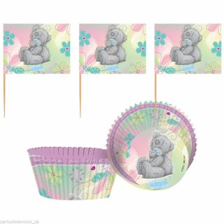 48 Piece Me to You Cute Tatty Teddy Party Cupcake Cake Cases Decorating Kit