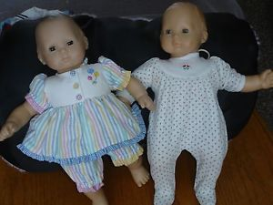 American Girl Pair of Bitty Baby Dolls with Clothing Lot