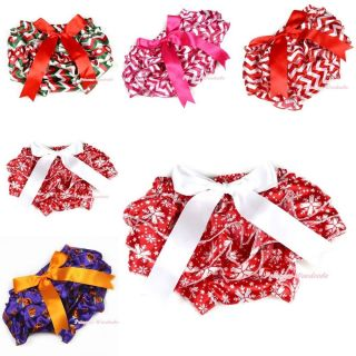 Infant Baby Girl Satin Bloomer Pantie Brief Pant with Bows for Pettiskirt 6M 3Y