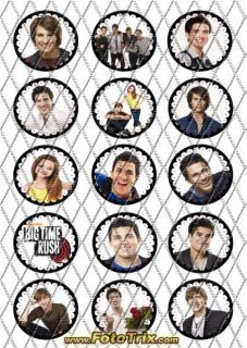 Edible Kosher Birthday Decoration Cake Cookie Cupcake Toppers Big Time Rush CC94