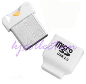 32GB Micro SDHC TF Mini USB Flash Drive Card Reader White A1