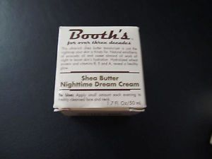 Booth's Shea Butter Nighttime Dream Cream Ultra Rich Moisturizer