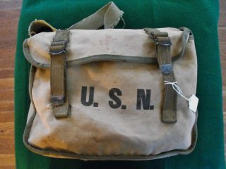 WWII USMC US Navy Corpsman RARE First Aid Field Medical Bag Has Seen Use