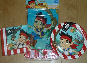 Jake and The Pirates Jake Neverland Pirates Napkins Tablecover Plates
