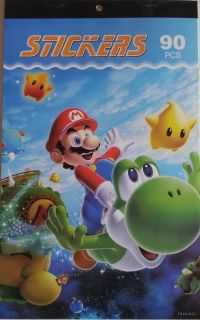Sticker Super Mario Bros Book 90 Stickers Party Favors New