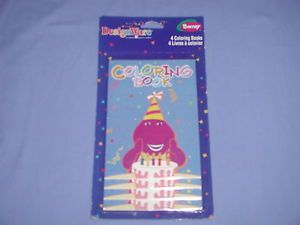 New Barney Happy Birthday Coloring Books Party Favors Gifts
