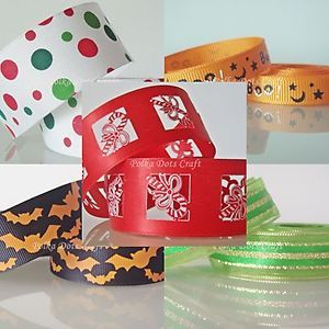 U Pick Halloween Christmas Holidays Ribbons Party Gift Wrappings Scrapbooks