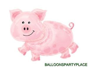 Pig Balloon Pink Farm Animal Western Adult Birthday Party Baby Shower Decoration