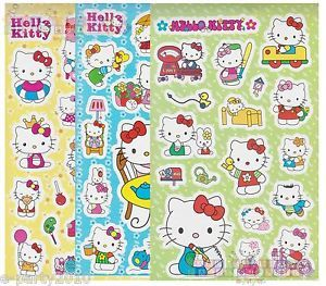 3 Sheets 138 Hello Kitty Stickers Birthday Party Supplies Favors Dear Daniel