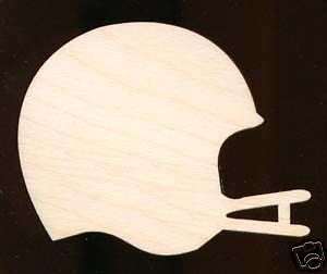 "Football Helmet Plaque Sign 12"" Natural Craft Wood Cutout 176 12"
