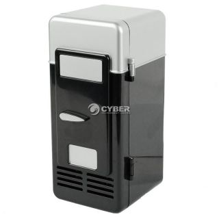 Black Mini USB LED PC Fridge Refrigerator Drink Cans Food Cooler Warmer DZ88