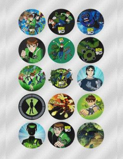 A332 Edible Icing Image Birthday Cake Cookie Cupcake Topper Ben 10 Ten Aliens