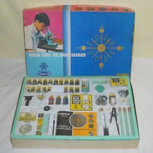 RARE Vintage 1970 Tasco 2000 Educational Kit Science Chemistry Biology