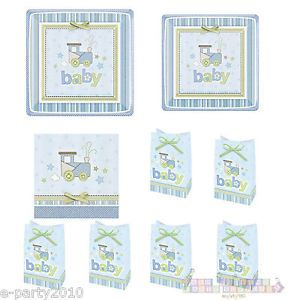 Carter Blue Baby Boy 1st Birthday Shower Party Supplies Create Set First Train