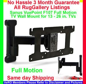 Sanus Vuepoint F107 Full Motion TV Wall Mount LCD Flat Screen Monitor 13 26 In