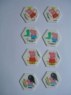 8 Peppa Pig Sugarcraft Cake Decorations PPG EC