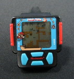 Vintage LCD Game Watch Wristwatch Nintendo Super Mario Bros 3 Zeon 8319 UD