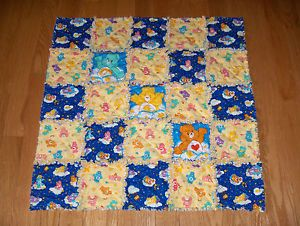 Care Bear Fabric Baby Rag Quilt Glow in The Dark Blanket