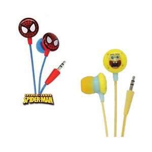 iHip Spongebob Squarepants Spiderman Mini Earbuds Set