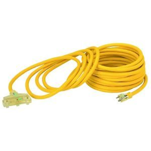 50 ft x 10 Gauge Triple Tap Extension Cord w Indicator Light Power 3 Items