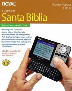Biblia Electronica Royal RV1 39185C Espanol Spanish Bible Gift SHIP Puerto Rico