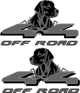 4x4 Labrador Dog Vinyl Decals Sticker Auto Truck Car SUV Badges Hunting Fishing