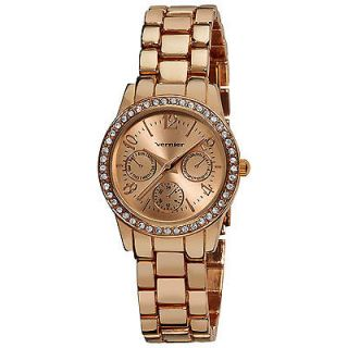 Vernier Women's Rose Feme Fashion Faux Chrono Quartz Bracelet Watch
