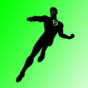 Green Lantern Comic Wall Art Vinyl Decal Mural Large