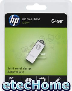 HP V220W 64GB 64G USB Flash Drive Memory Disk Memory Stick Capless Mirror Metal