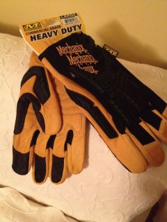 All Leather Mechanix Wear Heavy Duty Full Finger Gloves CG50 75 010 Large