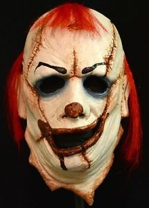 Clown Skinner Halloween Face Mask Latex Hand Made High Quality Hair