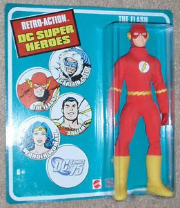 Mego Flash Retro Action DC Super Heroes SEALED on Card 2010 Mattel