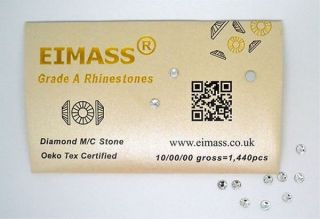 Factory Direct Eimass® World Class Non Hot Fix Glass Gems Rhinestones Crystals