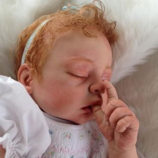 Baby Cozy Beautiful Reborn Baby Girl Art Doll Hand Painted 3D Skin