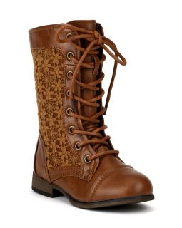 Link Chapter 31K New Crochet Round Toe Lace Military Combat Boot Toddler Girl