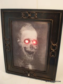 "12x15"" Lenticular Haunted House Portrait 3D Picture Scary Man Halloween Dã©cor"