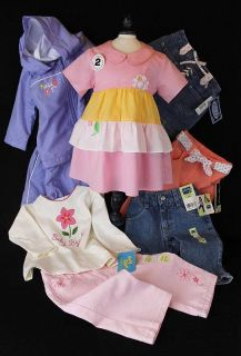 Lot 8 Pcs Baby Toddler Girl Clothes Dress Pants Jacket Blouse Koala Kids 12 18M