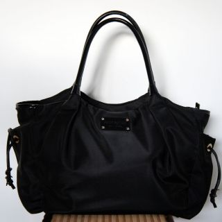 "Kate Spade Black Nylon ""Stevie"" Baby Diaper Bag"