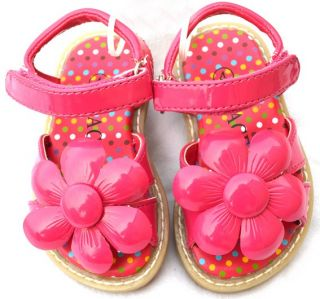 White Pink Toddler Children Kids Girl Sandals Size 5 11